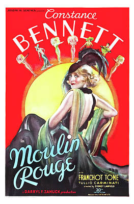 Artistic Expression Mixed Media - Moulin Rouge 1934 by Mountain Dreams