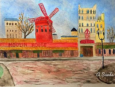 Painting - Moulin Rouge by Anne Sands