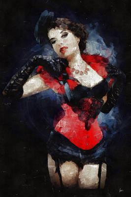 U-2 Painting - Moulin Rouge - Esmaralda by Sir Josef - Social Critic - ART