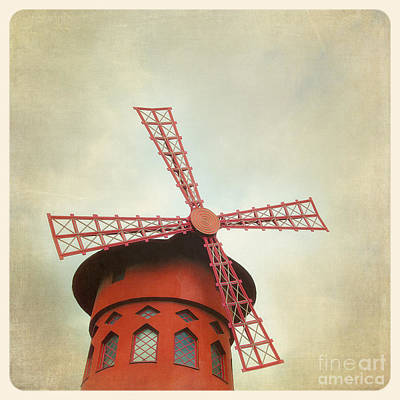 Old Mills Photograph - Moulin Rouge Instagram Style by Jane Rix