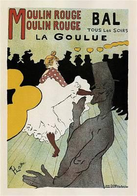 Mixed Media - Moulin Rouge - La Goulue - Vintage Advertising Poster by Studio Grafiikka
