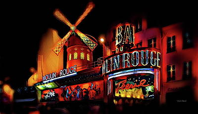 Prostitutes Digital Art - Moulin Rouge - The Red Mill by Russ Harris