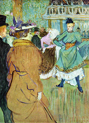 Prostitution Painting - Moulin Rouge by Toulouse Lautrec