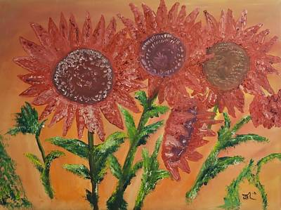 Moulinrouge Sunflowers Art Print by James Bryron Love