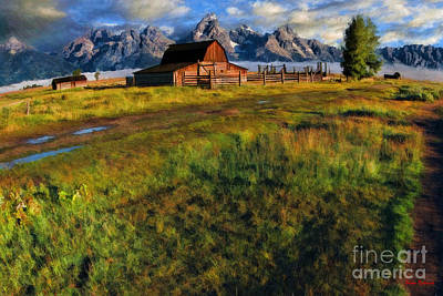 Photograph - Moulton Barn And The Grand Tetons by Blake Richards
