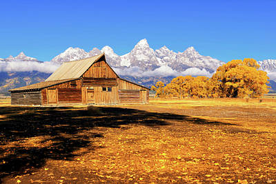 Photograph - Moulton Barn Autumn by Greg Norrell