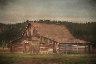 Teton Mixed Media - Moulton Barn Before The Storm by Teresa Wilson