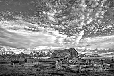 Photograph - Moulton Barn Grand Teton Np Bw by Sonya Lang