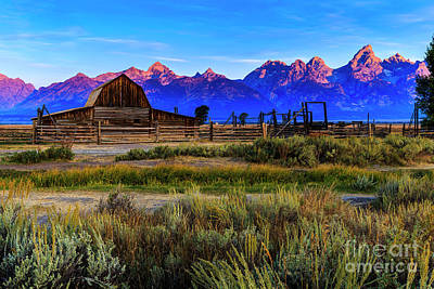 Photograph - Moulton Barn In Jackson Hole by Ben Graham