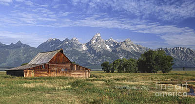 Photograph - Moulton Barn In The Tetons by Sandra Bronstein