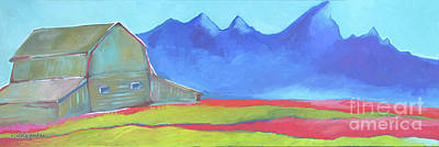 Painting - Moulton Barn Jackson Hole Wyoming by Nicole Gaitan
