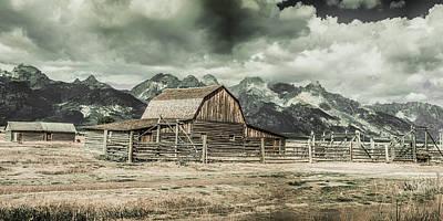 Photograph - Moulton Barn Panorama by James BO Insogna