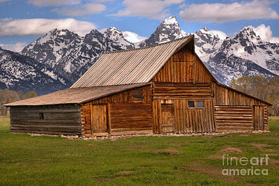 Photograph - Moulton Barn Spring Landscape by Adam Jewell