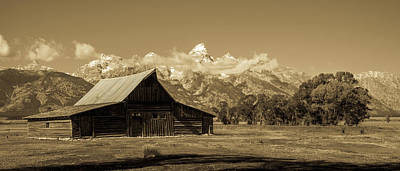 Photograph - Moulton Barn Toned by TL Mair