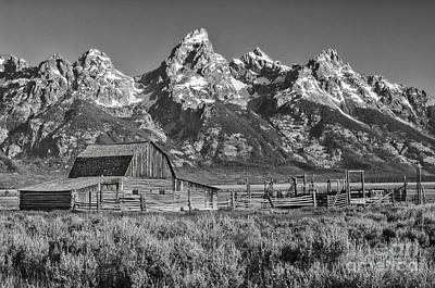 Photograph - Moulton Cabin - Grand Tetons II by Sandra Bronstein