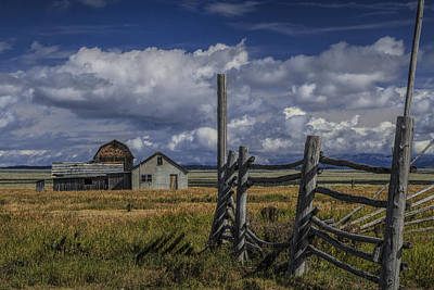 Photograph - Moulton Mormon Farm By Coral Fence by Randall Nyhof