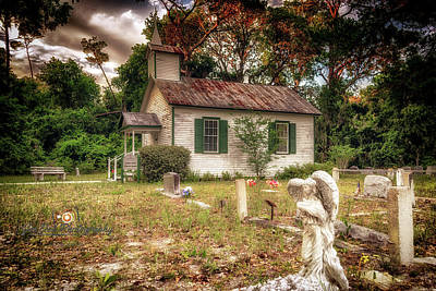 Photograph - Moultrie Church And Graveyard by Joedes Photography