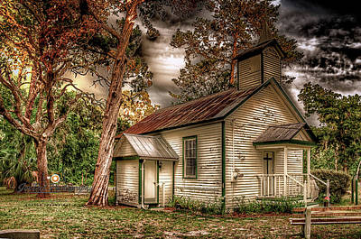 Photograph - Moultrie Church At Dusk by Joedes Photography
