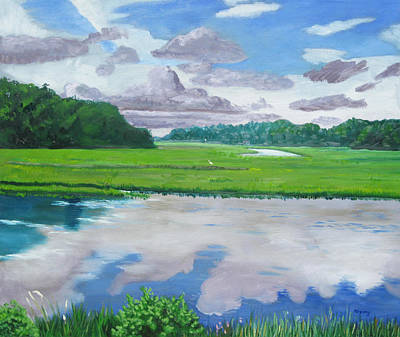 Painting - Moultrie Creek IIi by D T LaVercombe