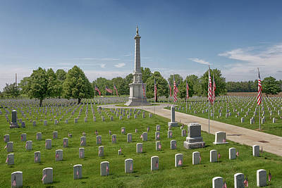 Photograph - Mound City National Cemetery 2 by Susan Rissi Tregoning