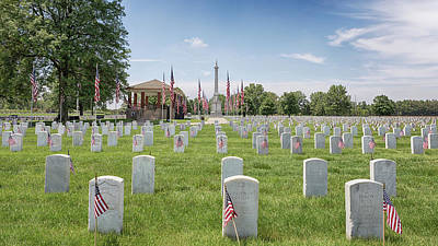 Photograph - Mound City National Cemetery 3 by Susan Rissi Tregoning