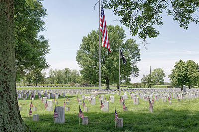 Photograph - Mound City National Cemetery 4 by Susan Rissi Tregoning