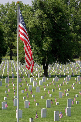 Photograph - Mound City National Cemetery 5 by Susan Rissi Tregoning
