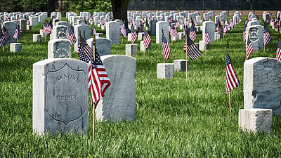 Photograph - Mound City National Cemetery 7 by Susan Rissi Tregoning