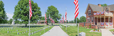 Photograph - Mound City National Cemetery Panorama  by Susan Rissi Tregoning