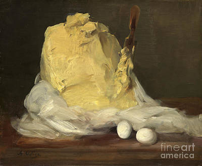 Oil Painting - Mound Of Butter by Celestial Images