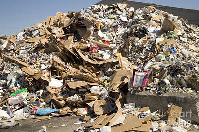 Recyclable Photograph - Mound Of Recyclables by Inga Spence