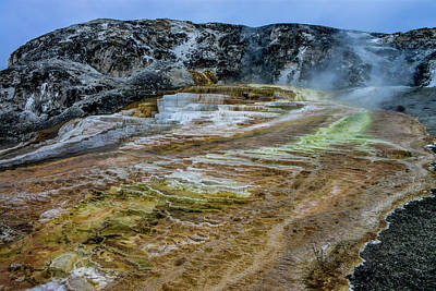 Photograph - Mound Spring, Mammoth Hot Springs, Yellowstone by Marilyn Burton