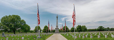 Photograph - Mound City National Cemetery Panorama 2 by Susan Rissi Tregoning