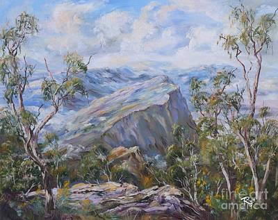 Painting - Mount Abrupt Grampians Victoria by Ryn Shell