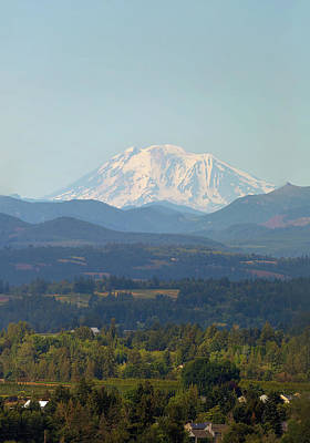 Watercolor Butterflies - Mount Adams in Washington State by David Gn