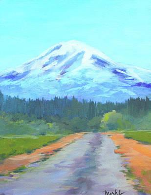 Painting - Mount Adams Painting by Nancy Merkle