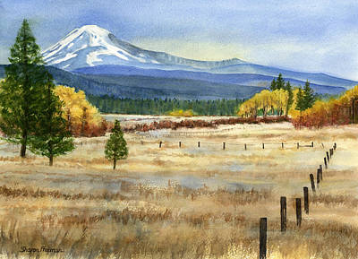 Volcano Painting - Mount Adams  by Sharon Freeman