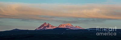 Photograph - Mount Aragats, The Highest Mountain Of Armenia, At Sunset Under Beautiful Clouds by Gurgen Bakhshetsyan