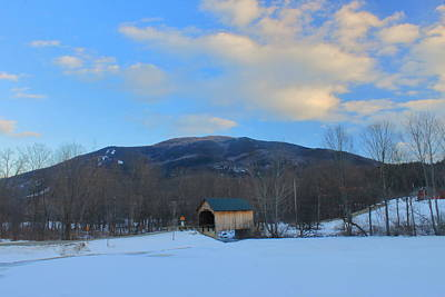 Photograph - Mount Ascutney And Bowers Covered Bridge by John Burk