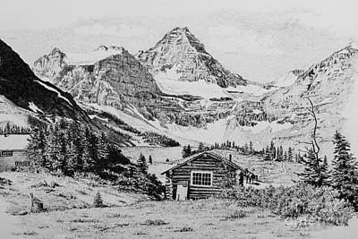 Drawing - Mount Assiniboine by Frank Townsley
