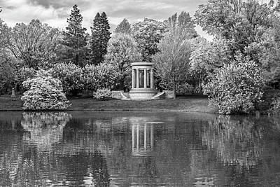 Photograph - Mount Auburn Cemetery In The Spring Cambridge Ma Black And White by Toby McGuire