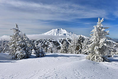 Photograph - Mount Bachelor Winter by Mark Whitt