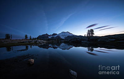 Photograph - Mount Baker Cold Skies Morning by Mike Reid