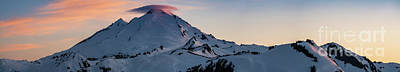 Table Mountain Photograph - Mount Baker Dusk Panorama by Mike Reid