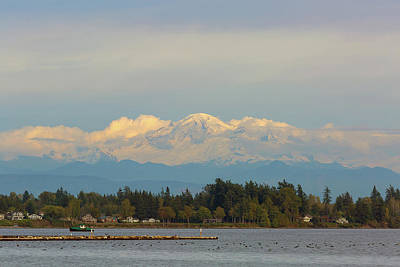 Photograph - Mount Baker From Semiahmoo Bay In Washington by David Gn
