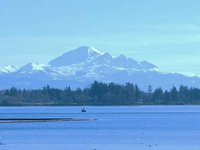 Mount Baker From The Spit Art Print by James Johnstone