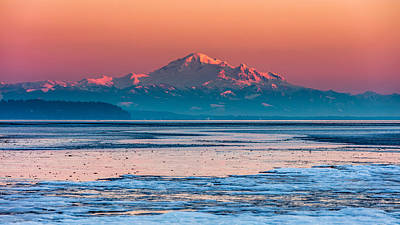 Photograph - Mount Baker Icy Sunset  by Pierre Leclerc Photography