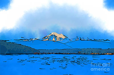 Digital Art - Mount Baker In Subtle Abstract by Kirt Tisdale
