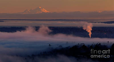 Photograph - Mount Baker In The Distance by Mike Reid