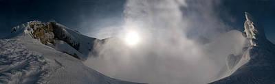 Mount Baker Summit Crater Art Print by Alasdair Turner